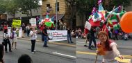 The Seattle Freedom for Nestora Committee marched in a community parade on 8-15-15 and passed out flyers about the Day for Action to #FreeNestora on August 21.